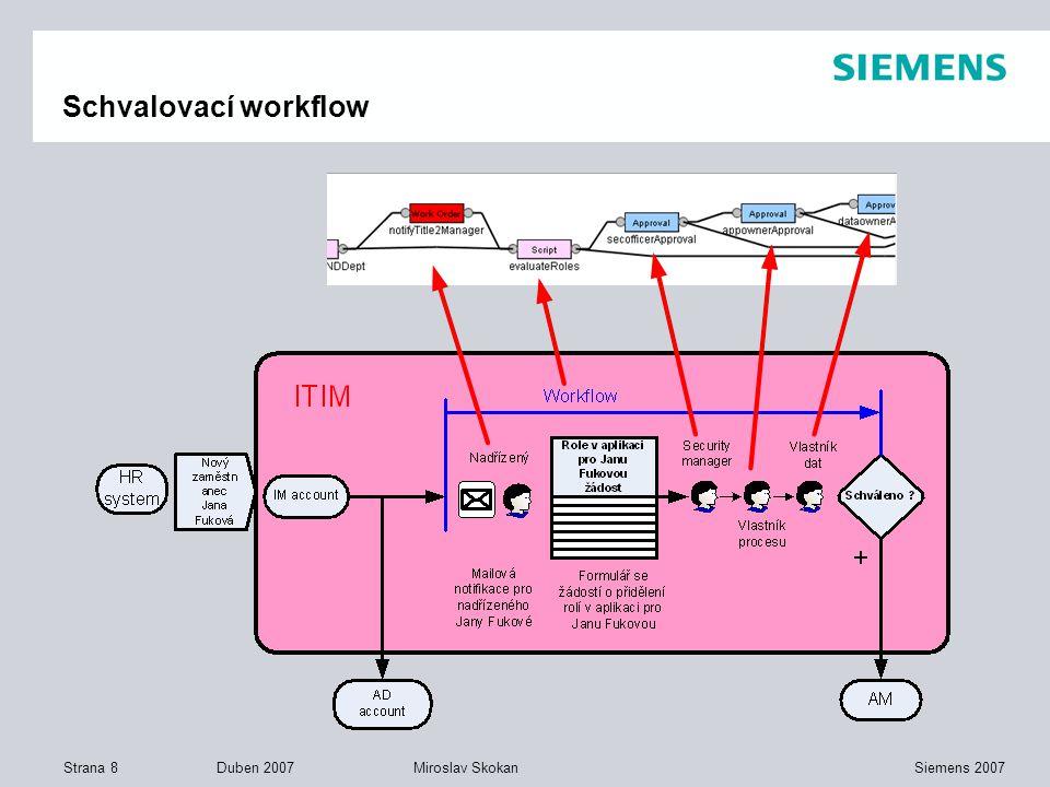 Strana 8 Duben 2007 Siemens 2007Miroslav Skokan Schvalovací workflow