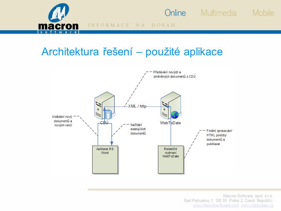 Macron Software, spol. s r.o. Nad Petruskou 1, 120 00 Praha 2, Czech Republic, www.macronsoftware.comwww.macronsoftware.com, www.webtodate.czwww.webto