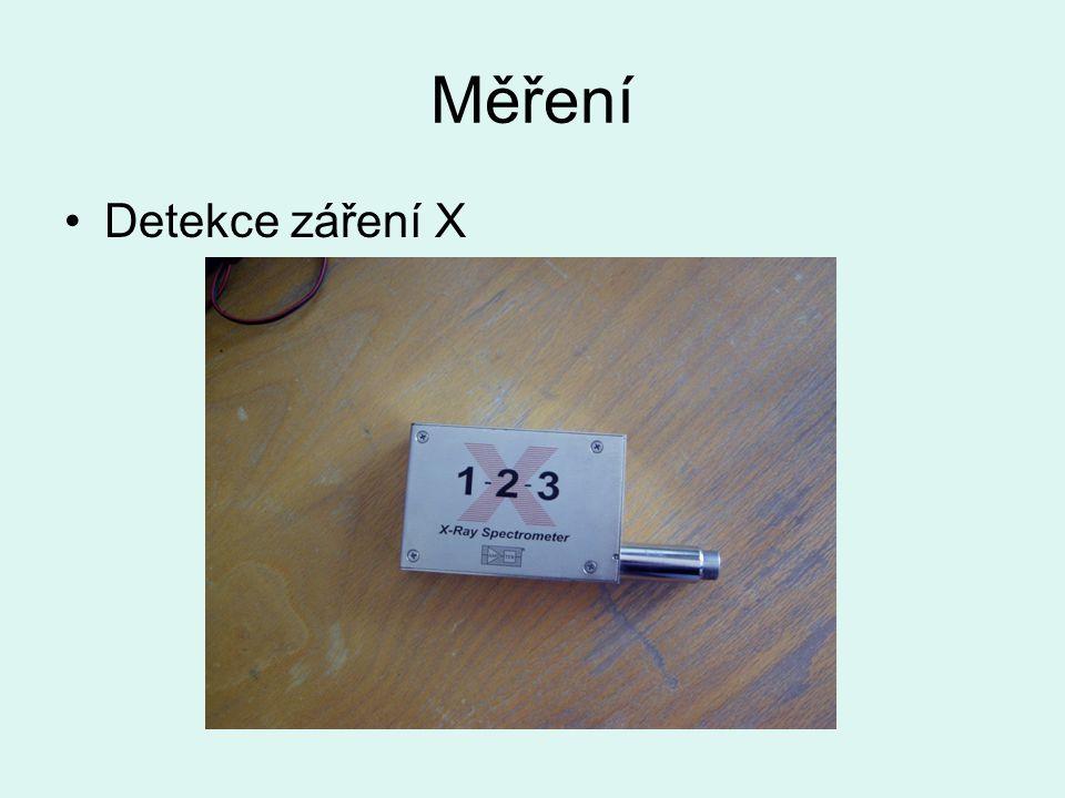 Měření Detekce záření X
