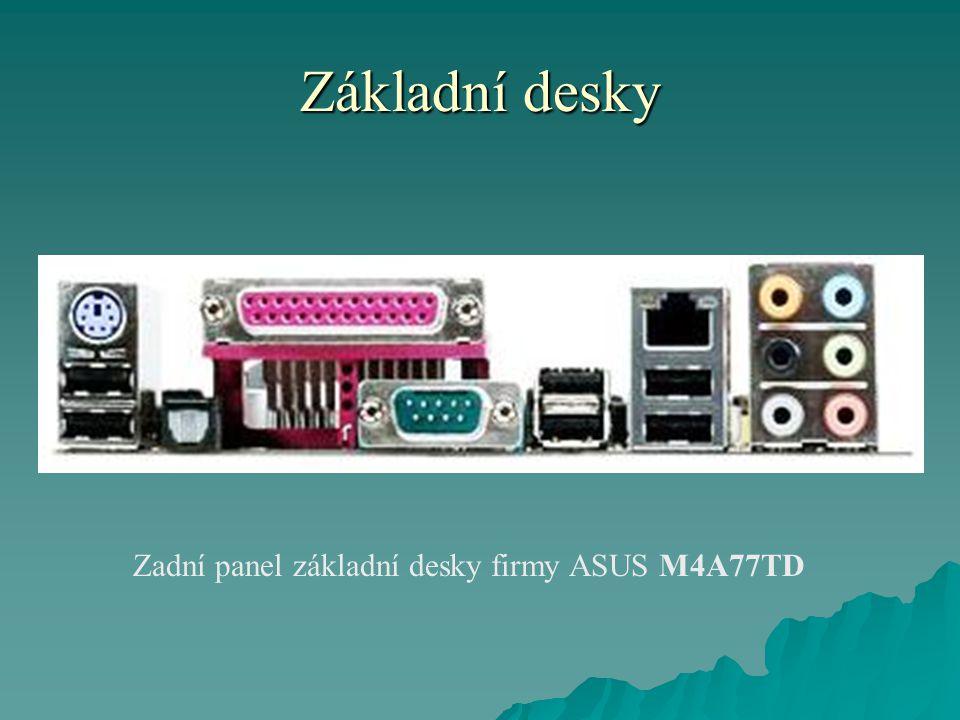 Základní desky Zadní panel základní desky firmy ASUS M4A77TD