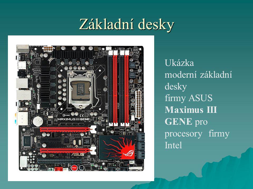 Základní desky Ukázka moderní základní desky firmy ASUS Maximus III GENE pro procesory firmy Intel
