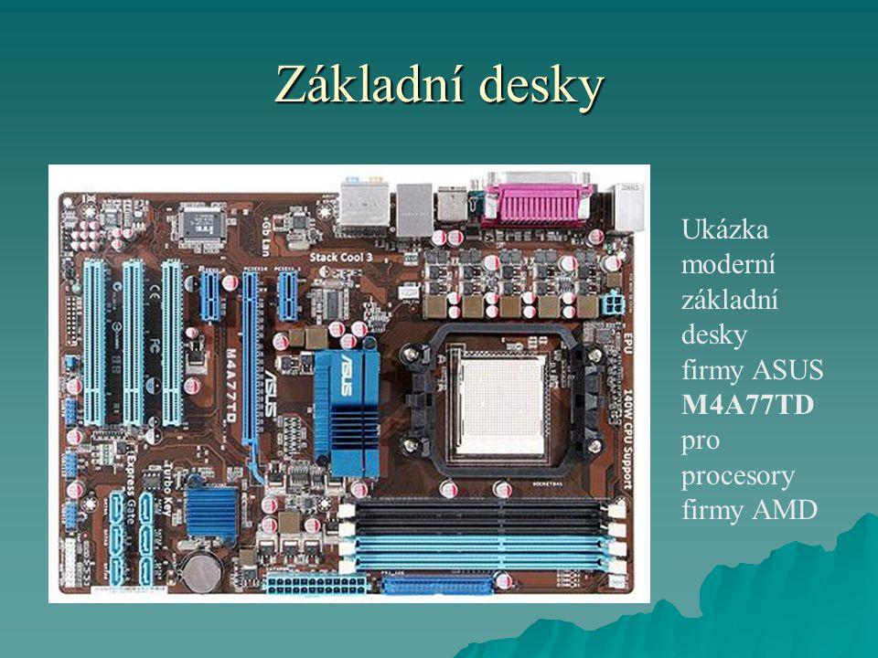 Základní desky Ukázka moderní základní desky firmy ASUS M4A77TD pro procesory firmy AMD