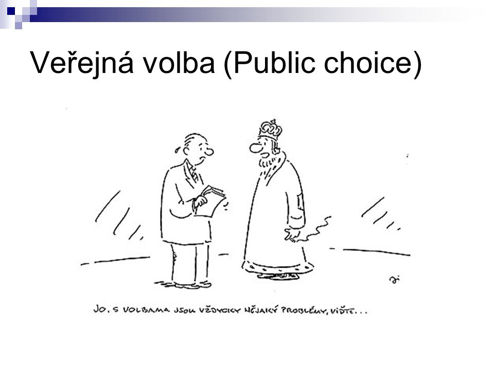Veřejná volba (Public choice)