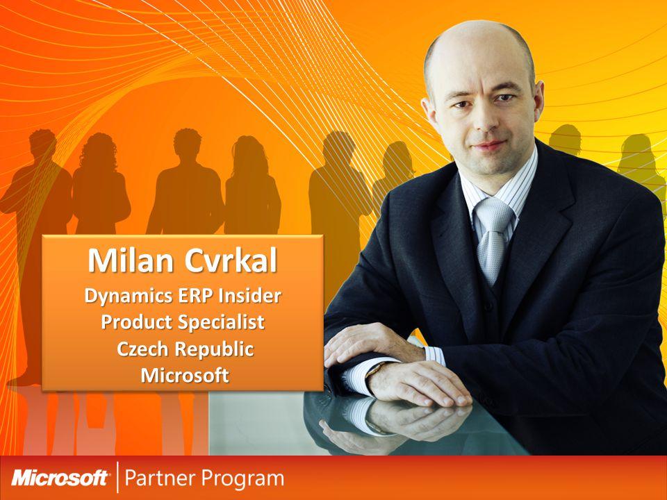 Milan Cvrkal Dynamics ERP Insider Product Specialist Czech Republic Microsoft