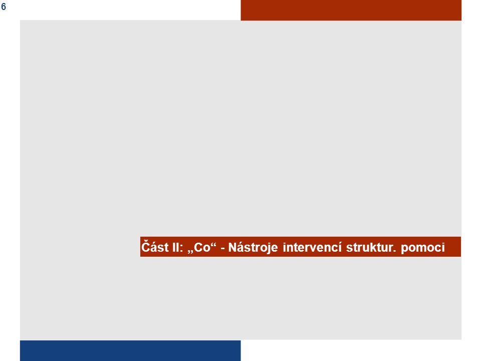 """Část II: """"Co - Nástroje intervencí struktur. pomoci 6"""