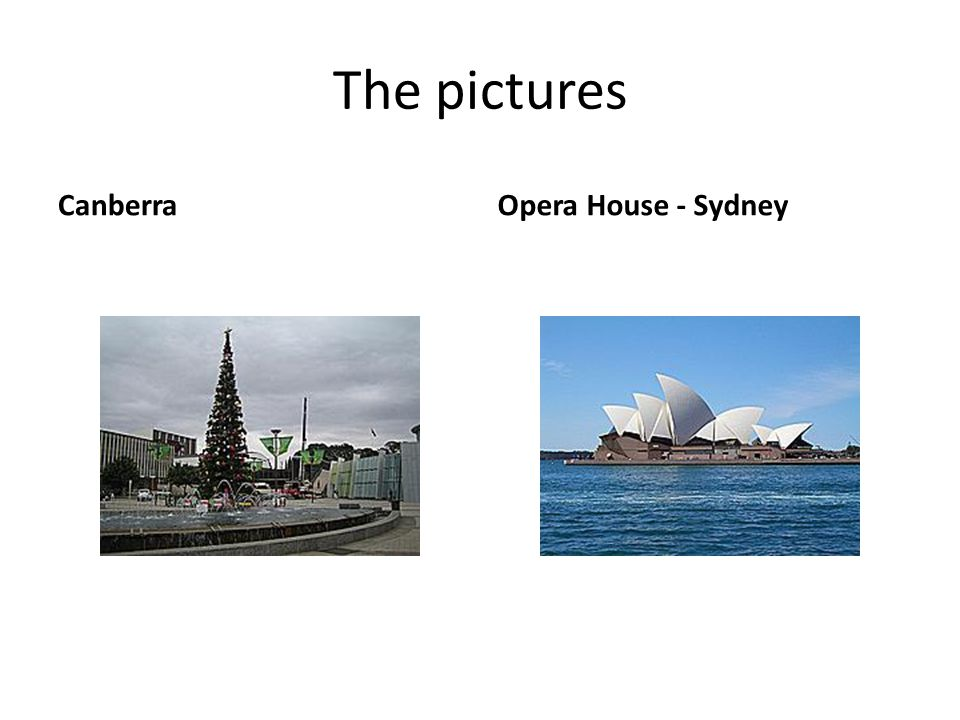 The pictures CanberraOpera House - Sydney