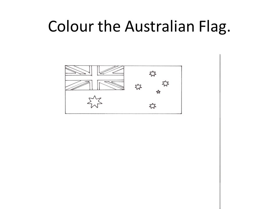 Colour the Australian Flag.