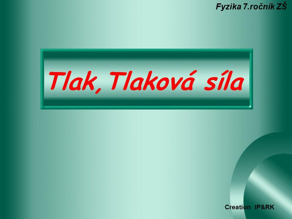 Tlak,Tlaková síla Fyzika 7.ročník ZŠ Creation IP&RK