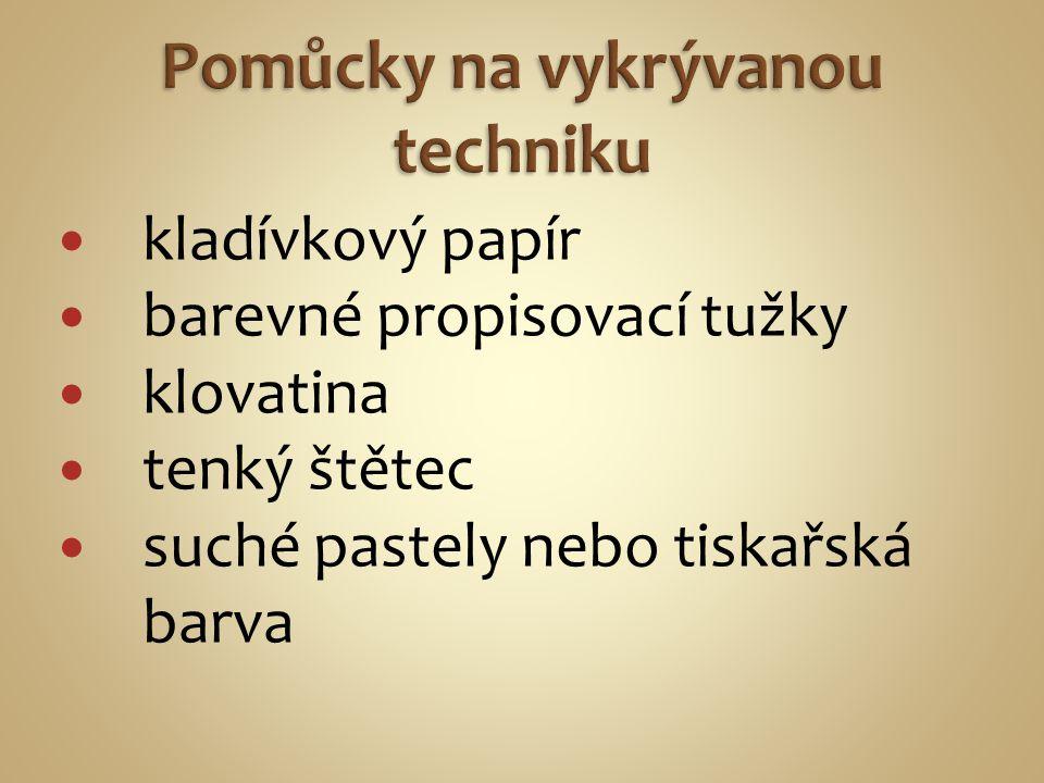 Vyrytá matrice-štoček Otisk