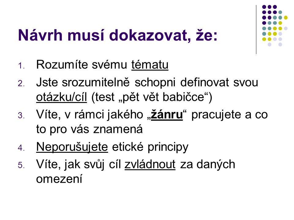 Struktura: 0.Abstrakt (100-200 slov) abstrakt je krátkým shrnutím textu, resp.
