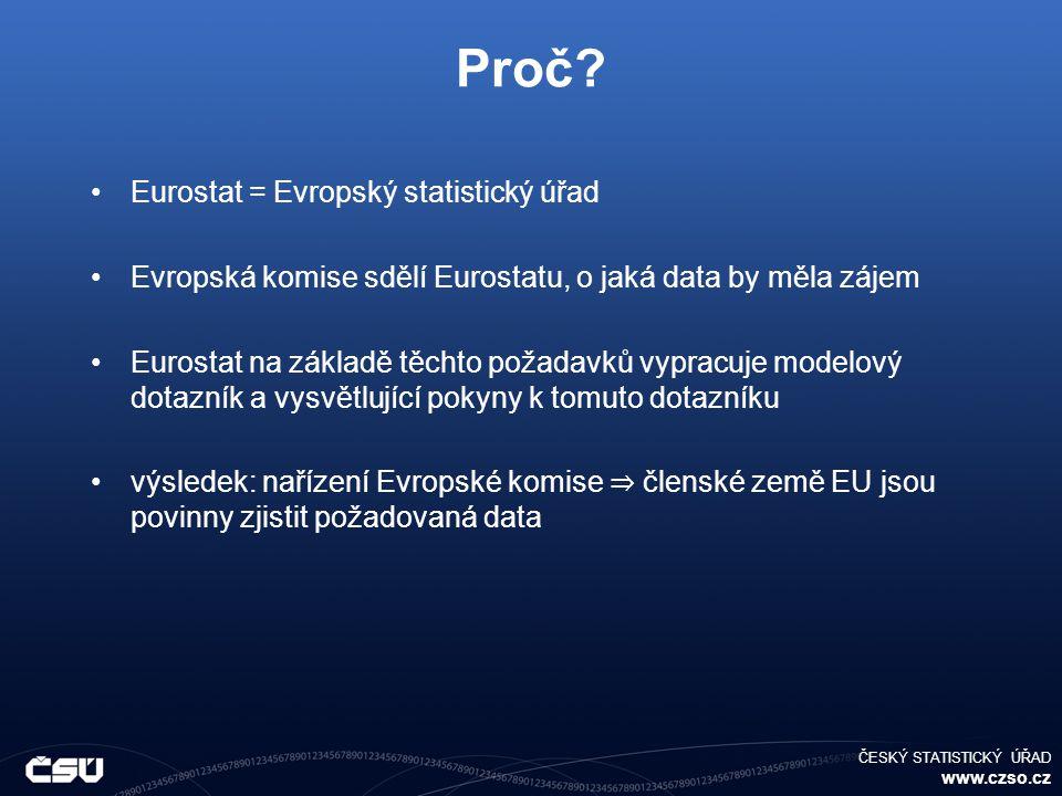 ČESKÝ STATISTICKÝ ÚŘAD www.czso.cz Proč.