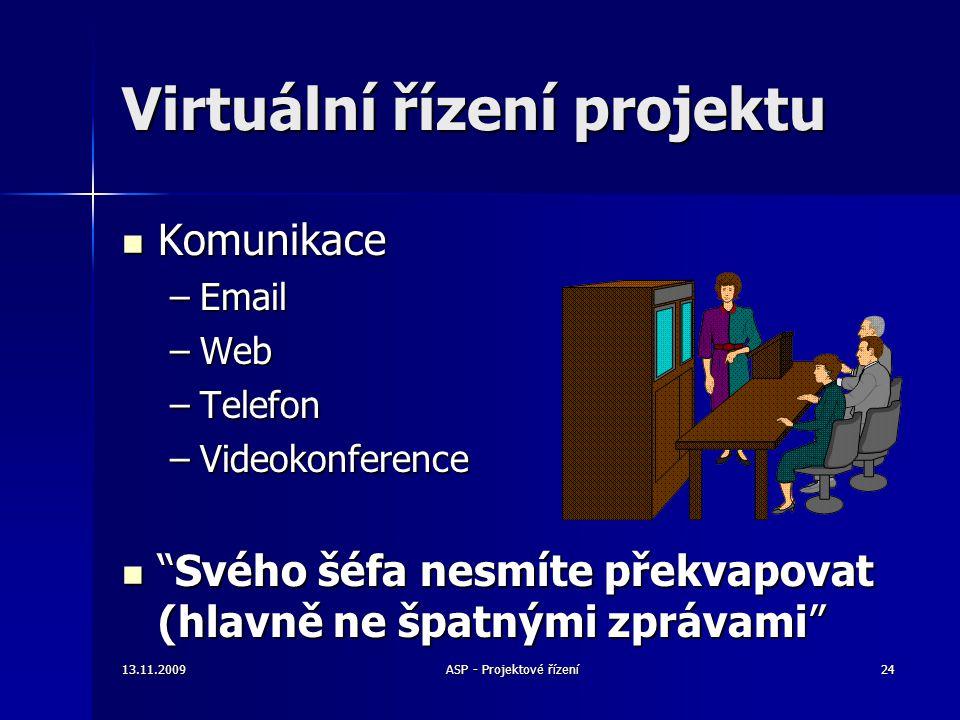"""Virtuální řízení projektu Komunikace Komunikace –Email –Web –Telefon –Videokonference """"Svého šéfa nesmíte překvapovat (hlavně ne špatnými zprávami"""" """"S"""
