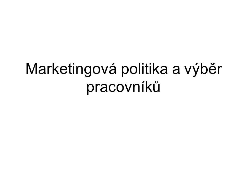 Marketingová politika a výběr pracovníků