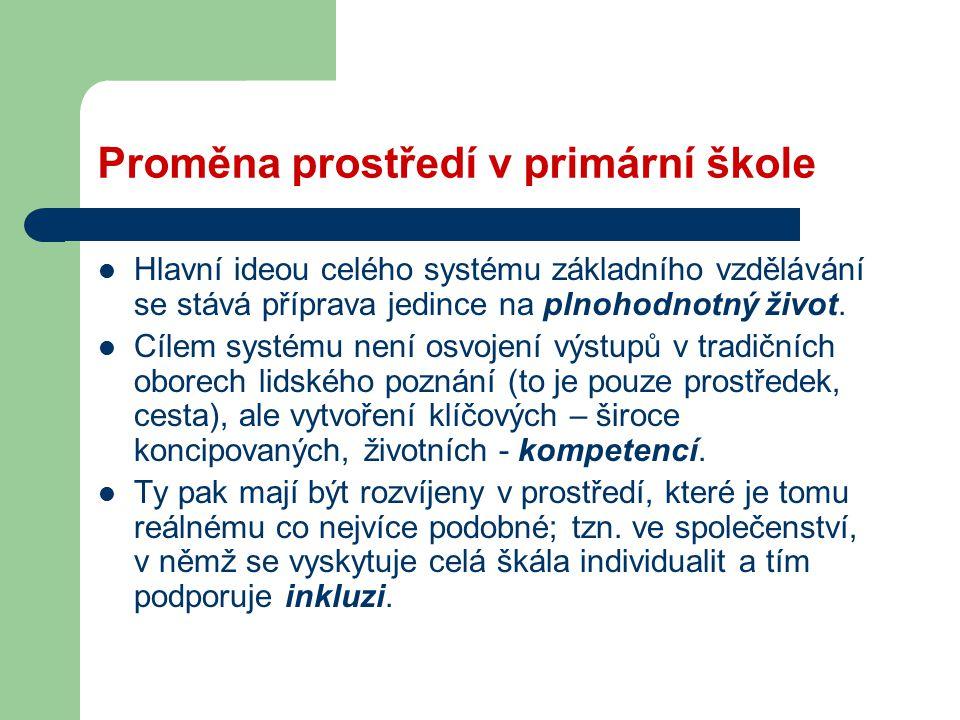 Tři zásadní otázky: 1.Je český vzdělávací systém obecně připraven na realizaci a podporu inkluzivního vzdělávání.