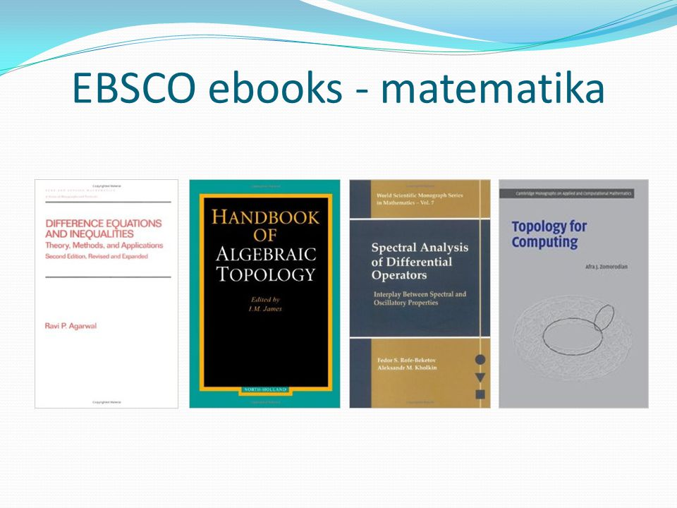 EBSCO ebooks - matematika