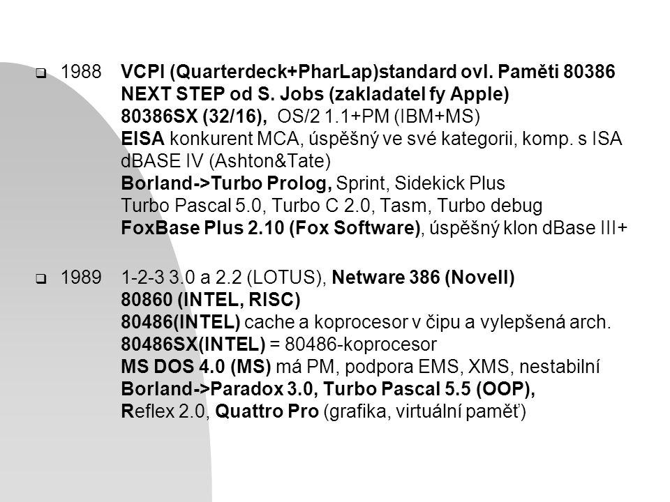  1988VCPI (Quarterdeck+PharLap)standard ovl. Paměti 80386 NEXT STEP od S.