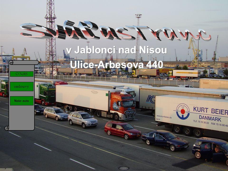 O NÁS smlouvy Naše auta v Jablonci nad Nisou Ulice-Arbesova 440