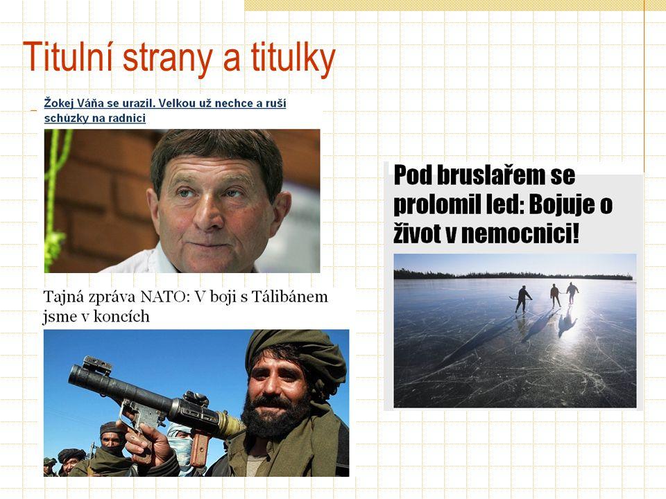 Titulní strany a titulky