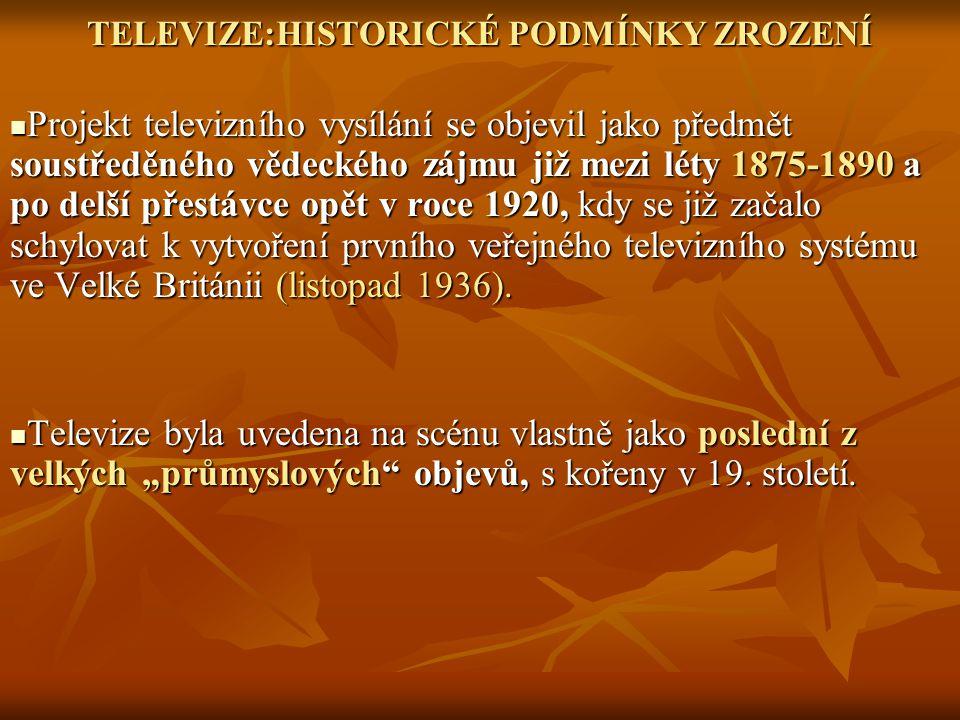 Doba experimentování v ČS(S)R skončila pro rozhlas (okolo roku 1928-30), pro TV (1958-60) Doba experimentování v ČS(S)R skončila pro rozhlas (okolo roku 1928-30), pro TV (1958-60) Nástup televize navíc kopíroval: Nástup televize navíc kopíroval: A/ poválečný baby boom, který trval až do roku počátku šedesátých let.