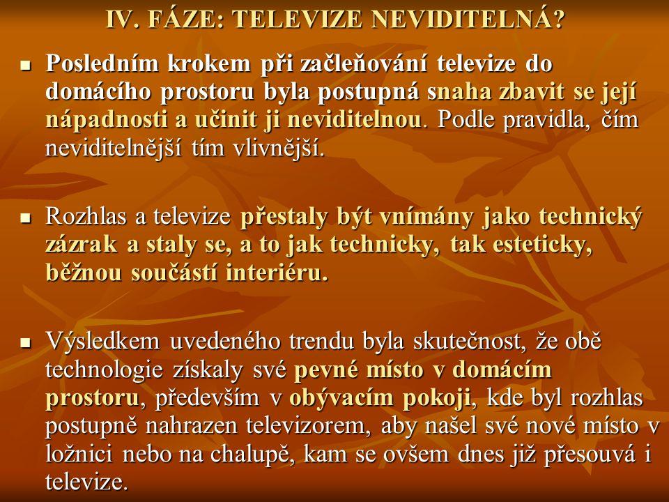 IV. FÁZE: TELEVIZE NEVIDITELNÁ.