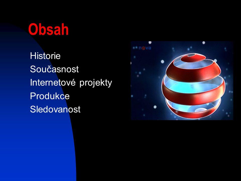 Obsah Historie Současnost Internetové projekty Produkce Sledovanost