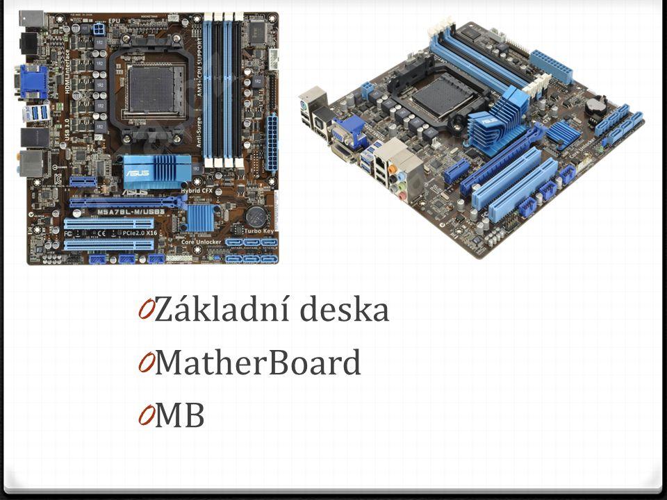 0 Základní deska 0 MatherBoard 0 MB