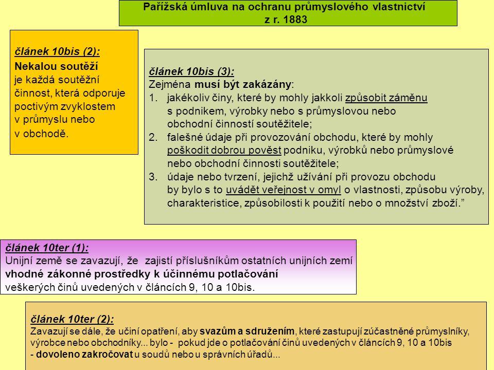 Pařížská úmluva na ochranu průmyslového vlastnictví z r.