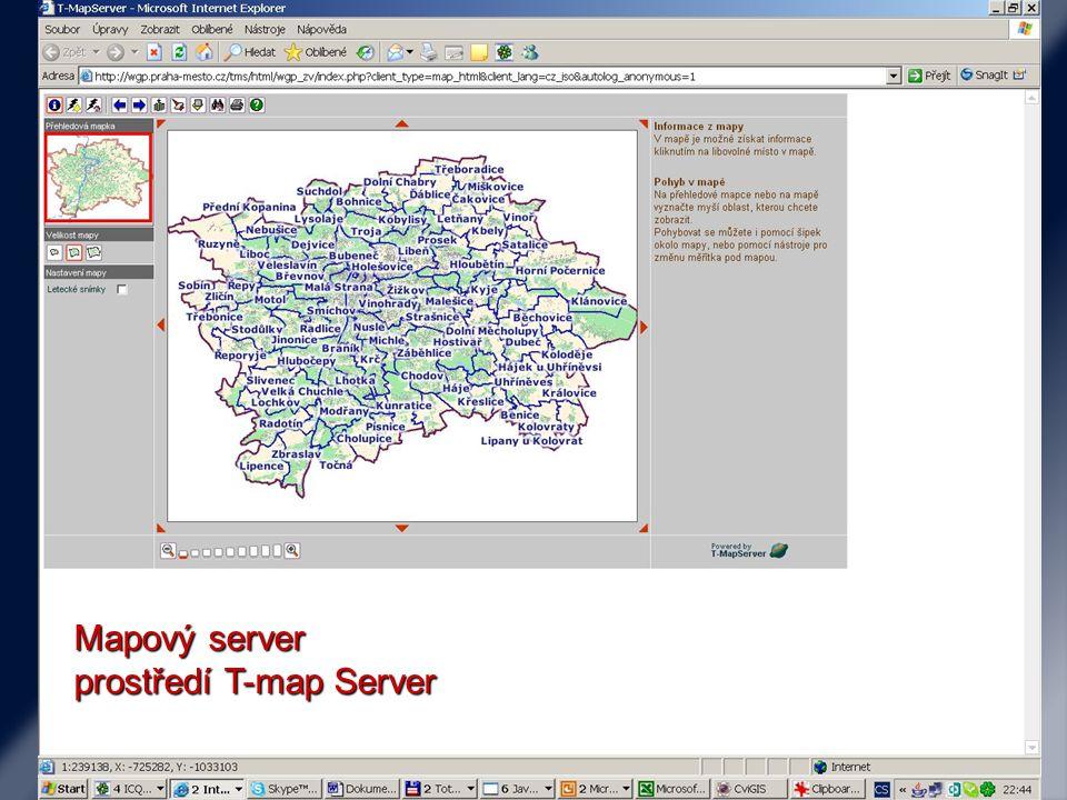Mapový server prostředí T-map Server