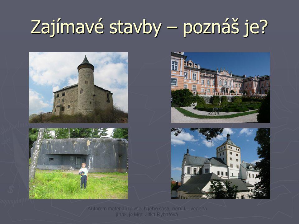 Karlštejn - zámečekVeselý kopec - skanzen Bára – rozhledna Lichnice – zřícenina hradu Zajímavé stavby 2 Autorem materiálu a všech jeho částí, není-li uvedeno jinak, je Mgr.