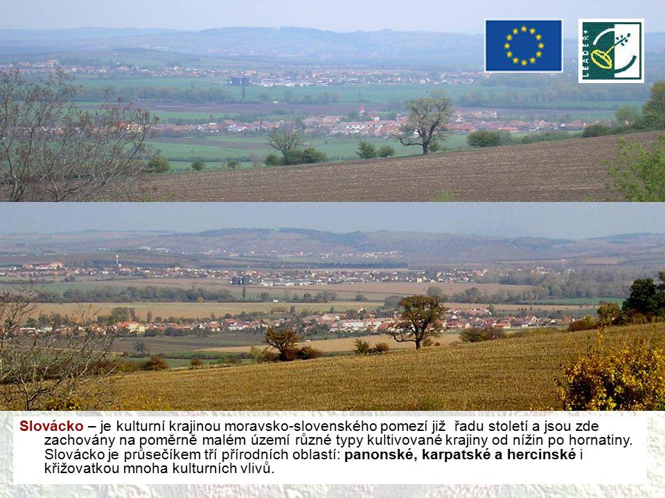 Slovácko – je kulturní krajinou moravsko-slovenského pomezí již řadu století a jsou zde zachovány na poměrně malém území různé typy kultivované krajin
