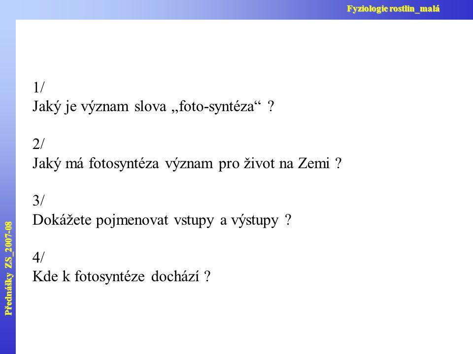 Komplex ATP-syntázy Přednášky ZS_2007-08 Fyziologie rostlin_malá