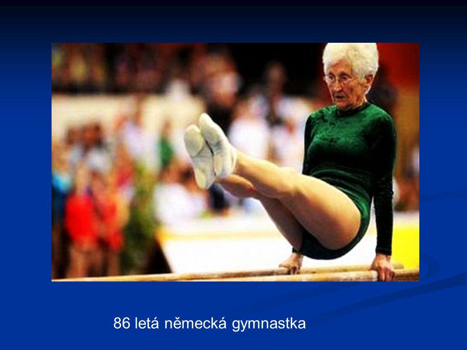 86 letá německá gymnastka