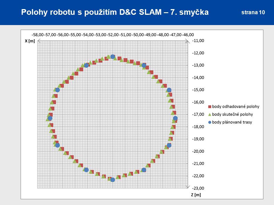 Polohy robotu s použitím D&C SLAM – 7. smyčka strana 10