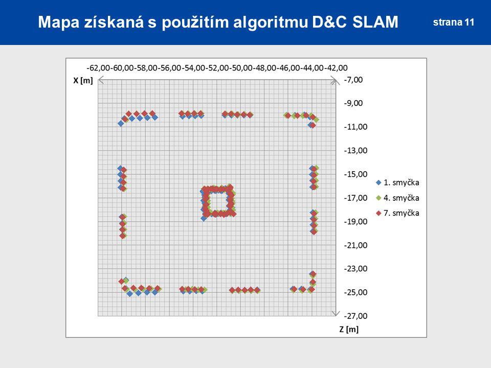Mapa získaná s použitím algoritmu D&C SLAM strana 11