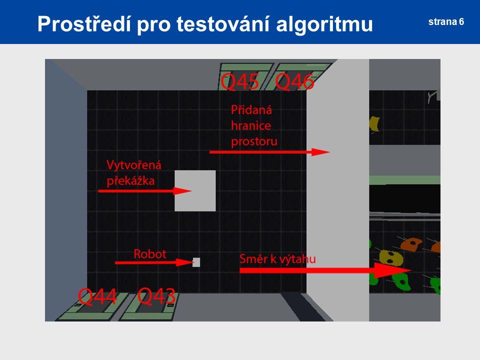 Prostředí pro testování algoritmu strana 6