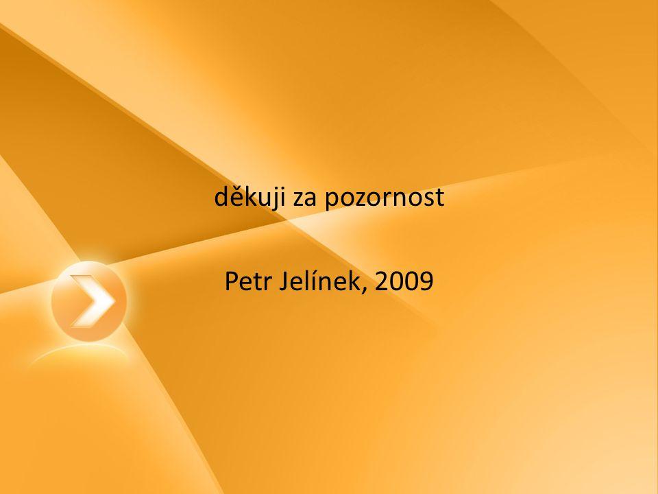 děkuji za pozornost Petr Jelínek, 2009