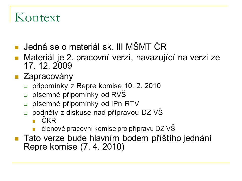 Kontext Jedná se o materiál sk. III MŠMT ČR Materiál je 2.