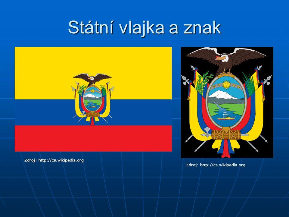 Státní vlajka a znak Zdroj: http://cs.wikipedia.org