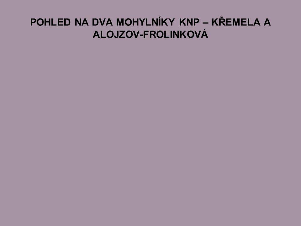 POHLED NA DVA MOHYLNÍKY KNP – KŘEMELA A ALOJZOV-FROLINKOVÁ