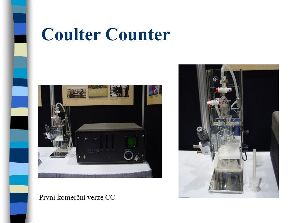 Coulter Counter První komerční verze CC