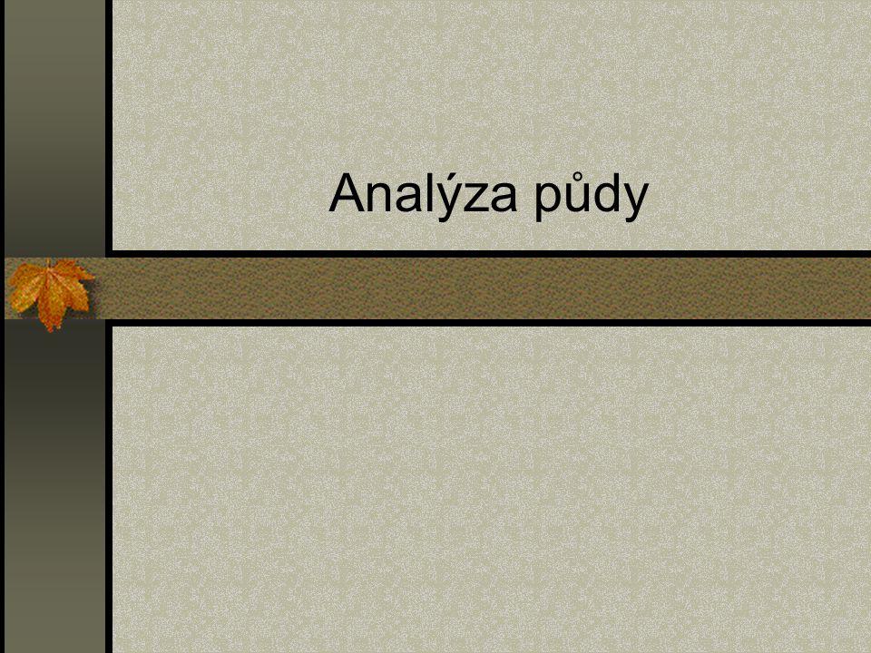 Analýza půdy