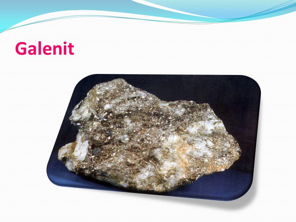 Sfalerit Sulfid zinečnatý ZnS Barva: šedočerná + zlaté tečky Tvrdost: 3 Hustota: 4 Soustava: krychlová Využití: je hlavní zinkovou rudou (výroba plechu, pozinkování, elektrovod)