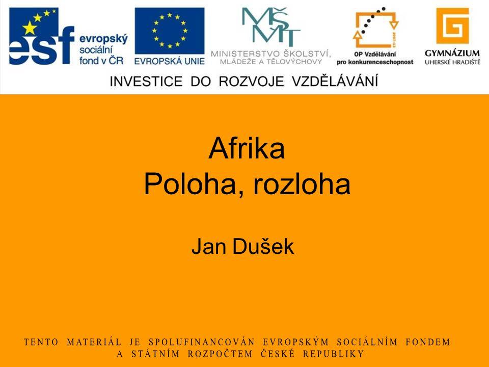 Afrika Poloha, rozloha Jan Dušek