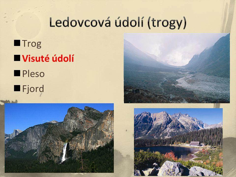 Trog Visuté údolí Pleso Fjord