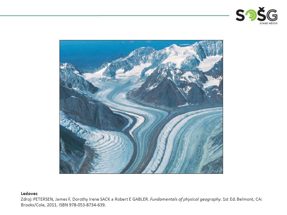 Ledovec Zdroj: PETERSEN, James F, Dorothy Irene SACK a Robert E GABLER.