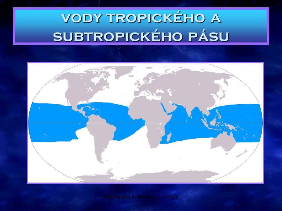 Gabriela Mikulková 2010 Pri23 vody tropického a subtropického pásu