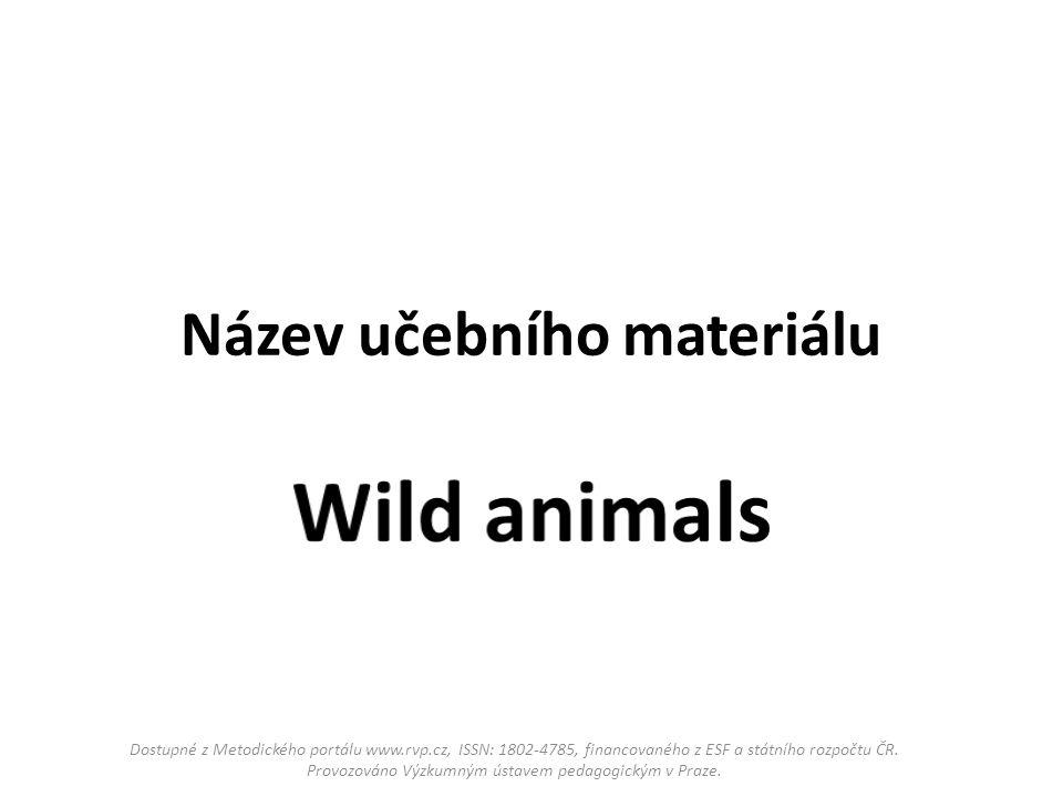 Název učebního materiálu Dostupné z Metodického portálu www.rvp.cz, ISSN: 1802-4785, financovaného z ESF a státního rozpočtu ČR.