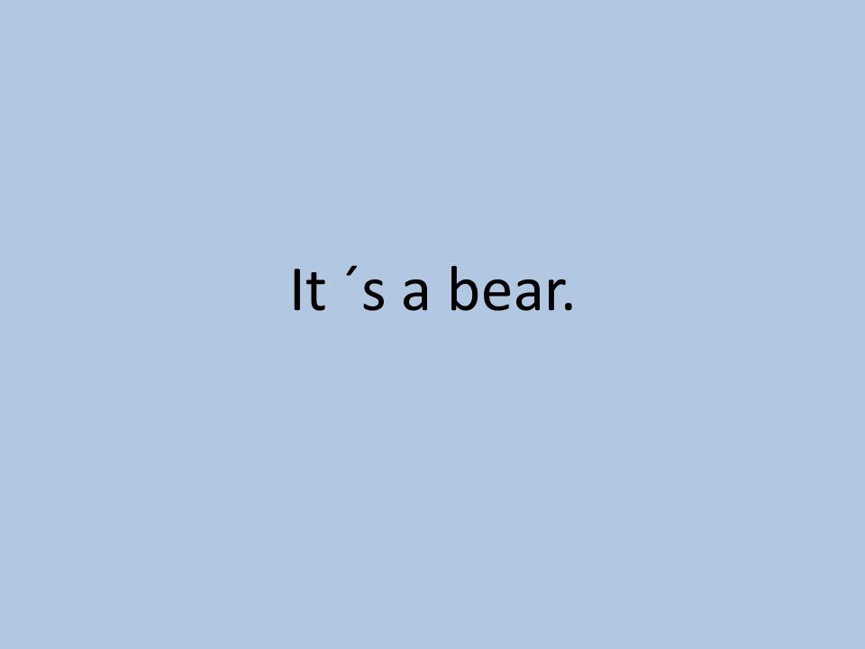 It ´s a bear.