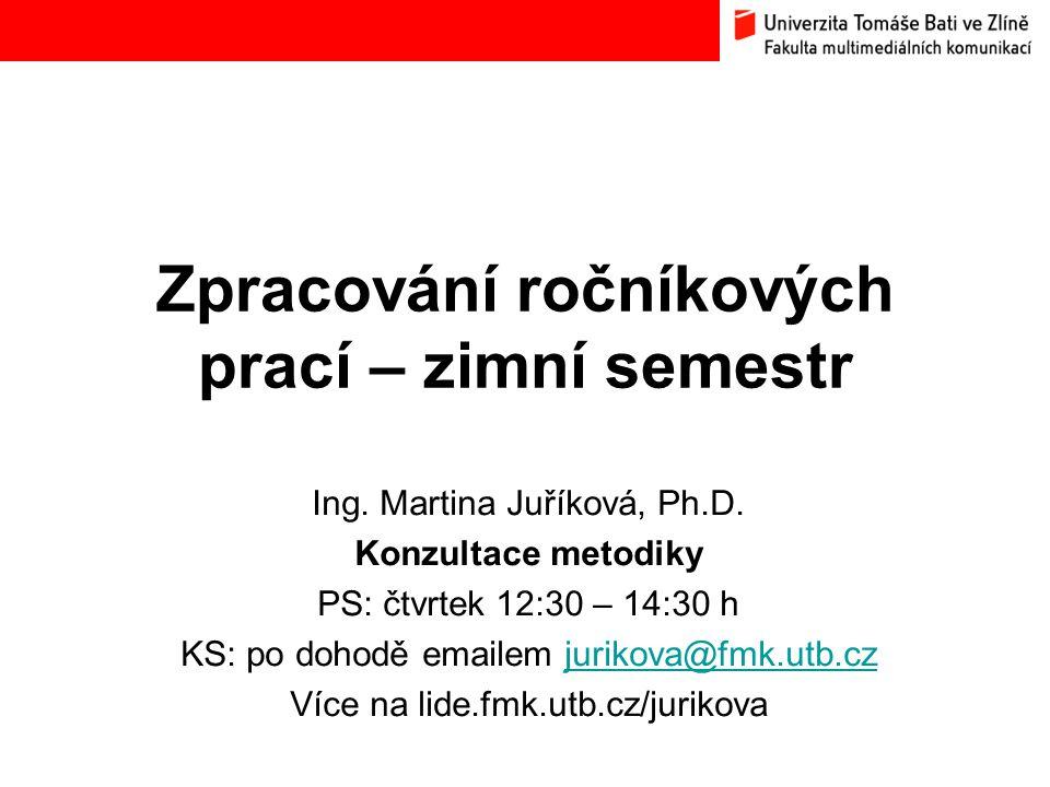 22 Formální úprava RP dle Směrnice rektora č.