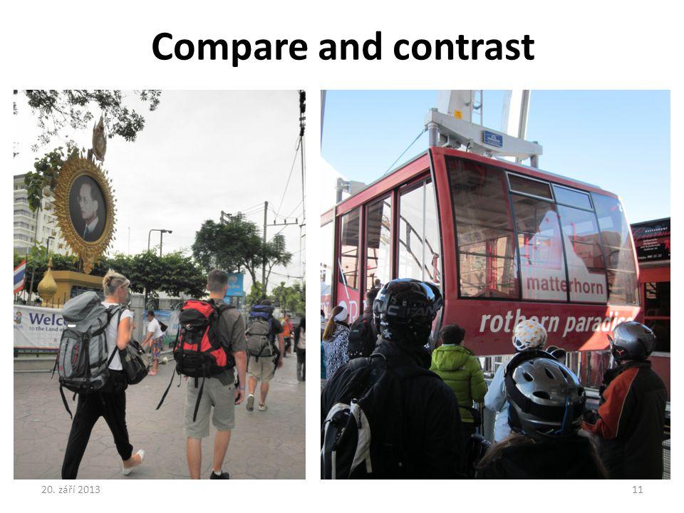 Compare and contrast 20. září 201311